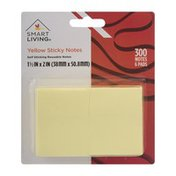 Smart Living Yellow Sticky Notes - 6 PK