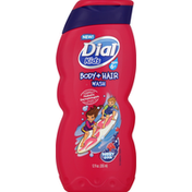 Dial Body + Hair Wash, Ages 6+, Berry Cool