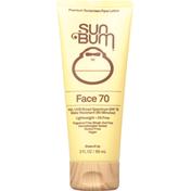 Sun Bum Sunscreen Face Lotion, Premium, Broad Spectrum SPF 70
