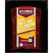 67th Street BBQ Seasoned Pork St. Louis Style with Sauce Spareribs