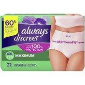 Always Discreet DISCREET Incontinence Underwear, Maximum