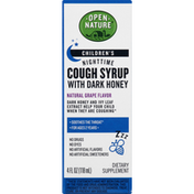 Open Nature Cough Syrup, with Dark Honey, Nighttime, Children's, Natural Grape Flavor