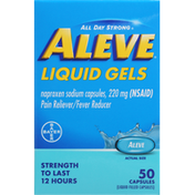 Aleve Pain Reliever/Fever Reducer, 220 mg, Liquid Gels, Capsules