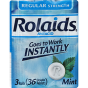 Rolaids Antacid, Regular Strength, Chewable Tablets, Mint