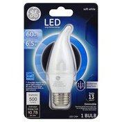 GE Light Bulb, LED Soft White, 6.5 Watts