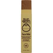 Sun Bum Face Mist Sunscreen, Refreshing, Broad Spectrum SPF 45