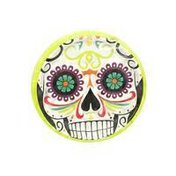 Party Creations Plates, Premium Strength, Skelebration, 6-7/8 Inch