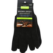 Cordova Cotton Gloves, Brown Jersey, Large