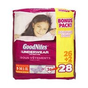 GoodNites Girls Size L-XL Underwear For Nighttime - 28 CT