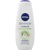 Nivea Body Wash, Care & Cucumber, Moisturizing