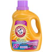 Arm & Hammer Clean Scentsations Tropical Paradise, 57 Loads Liquid Laundry Detergent,