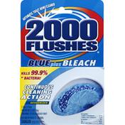 2000 Flushes Toilet Bowl Cleaner, Automatic, Blue Plus Bleach