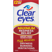 Clear Eyes Maximum Redness Relief Lubricant/Redness Reliever Eye Drops