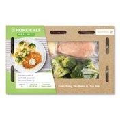Home Chef Garlic Butter Crispy Chicken With Broccoli Cheddar Rice