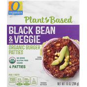 O Organics Burger Patties, Organic, Black Bean & Veggie
