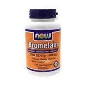 Now Bromelain 2400 GDU/g-500 mg Natural Proteolytic Enzyme, Supports Healthy Digestion, Joint Comfort Dietary Supplement Veg Capsules