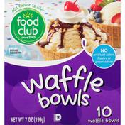 Food Club Waffle Bowls
