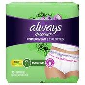 Always Discreet Underwear Xxl