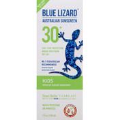 Blue Lizard Sunscreen, Mineral-Based, Kids, Broad Spectrum, SPF 30+
