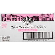 First Street Zero Calorie Sweetener, with Saccharin