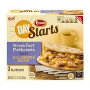 Tyson Day Starts Breakfast Flatbreads Egg, Cheese & Bacon - 3 CT