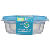 Simply Done Durable Entree & Small Round Bowl Containers & Lids Set