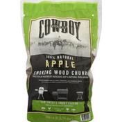 Cowboy Smoking Wood Chunks, Apple
