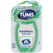 Tums Freshers Spearmint Chewable Tablets Twin Pack Antacid