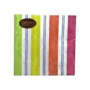 Caspari Awning Stripe Bright Lunch Napkin