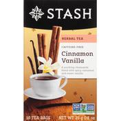 Stash Tea Herbal Tea, Caffeine-Free, Cinnamon Vanilla, Tea Bags