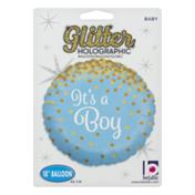 Betallic Glitter Holographic Ballon It's a Boy
