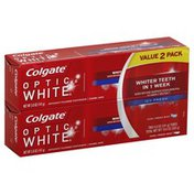Colgate Toothpaste, Anticavity Fluoride, Icy Fresh, Cool Fresh Mint, Value 2 Pack