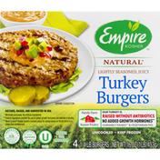 Empire Kosher Turkey Burgers, Natural