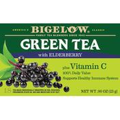 Bigelow Green Tea, with Elderberry, Bag