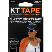KT Tape Cotton Kinesiology Tape - Black
