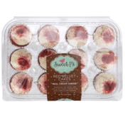 Sweet P's Traditional Red Velvet Cakes With A Rich Cream Cheese Icing And A Cake Crumb Topping