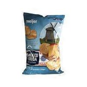 Meijer SMOKED GOUDA FLAVORED KETTLE potato chips