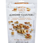 Creative Snacks Co. Almond Clusters, Baked with Cashews, Pumpkin Seeds, Cayenne, Turmeric & Honey