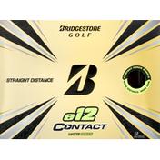 Bridgestone Golf Ball, Matte Green, e12 Contact, Straight Distance