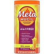 Metamucil Multi-Health Psyllium Fiber Supplement, Orange Powder With