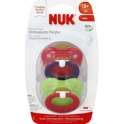 NUK Natural Shape Orthodontic Latex Pacifier, 18-36 Months
