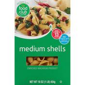 Food Club Enriched Macaroni Product, Medium Shells