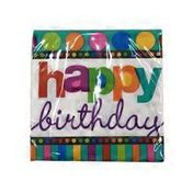 Amscan Small Dots & Stripes Birthday Beverage Napkins