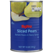 Hy-Vee Sliced Pears In Heavy Syrup