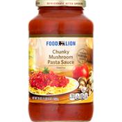 Food Lion Pasta Sauce, Mushroom, Chunky
