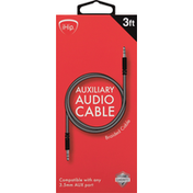 iHip Cable, Auxiliary Audio, Braided, 3 Feet