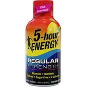 5-Hour Energy Energy Shot, Regular Strength, Pink Lemonade Flavor