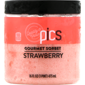 PICS Sorbet, Strawberry, Gourmet
