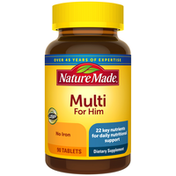 Nature Made Multivitamin For Him Tablets with No Iron