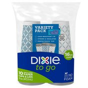 Dixie To Go Paper Coffee Cups & Lids, 16oz Disposable Hot Cups (Variety Pack)